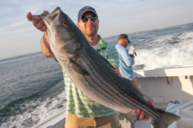 Striped BAss Fishing Charter Waterford, CT>
